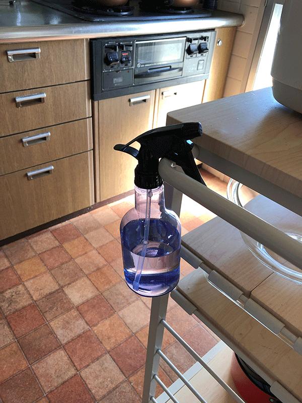 キッチン常備の除菌ボトル